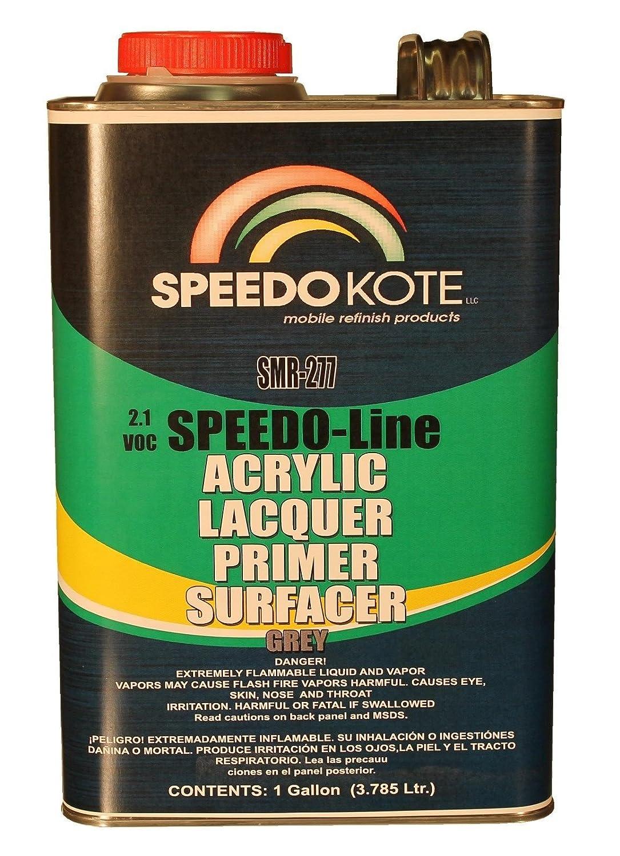 High Build Acrylic Lacquer Primer 2.1 voc Gray Gallon Speedokote