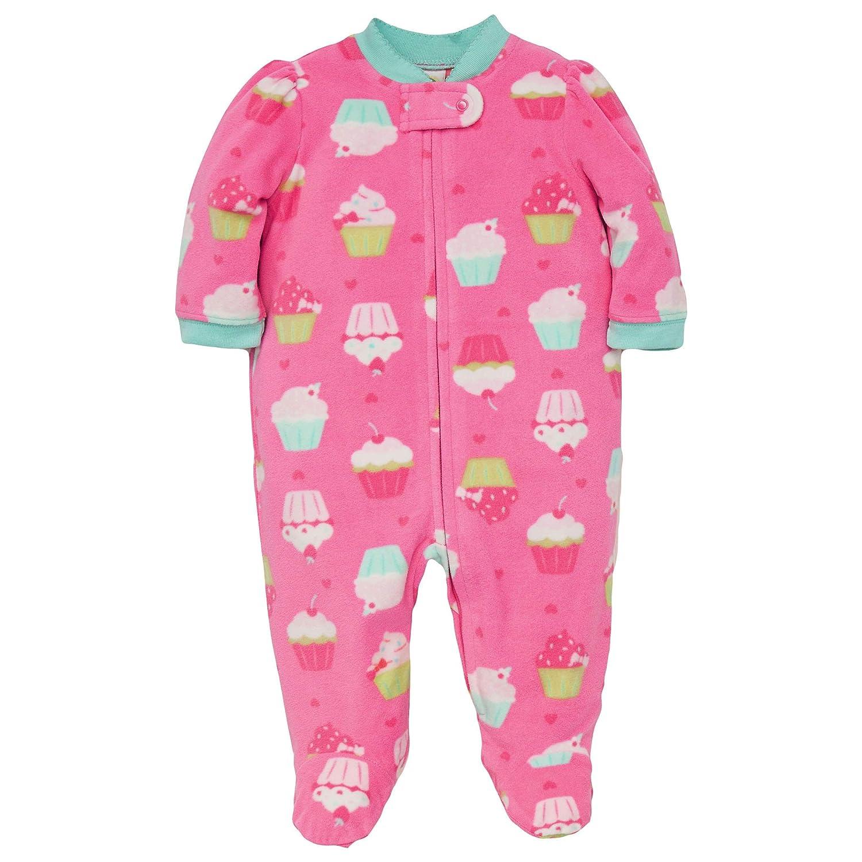 Amazon.com  Little Me Winter Fleece Baby Pajamas with Feet Blanket Sleeper  Footie Cupcake Pink 12 Month  Baby 839b76db4