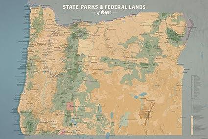 Amazon.com: Best Maps Ever Oregon State Parks & Federal Lands Map ...