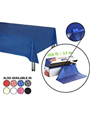 Neatiffy 54 Inch x 108 Feet Thick Plastic Table Cloth Roll Party/Banquet, Durable Table Cover (Reusable/Disposable) Tablecloths for Rectangle/Round/Square Tables, 12 Picnic Pack