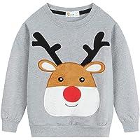 Sudadera de forro polar para niños Elk de Eulla, de algodón, 92 98 104 110 116 122
