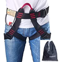 Climbing Harness Oumers Safe Seat Belts for Mountaineering Outward Band Fire Rescue Working on The Higher Level Caving Rock Climbing Rappelling Equip Women Man Child Half Body Guide Harness