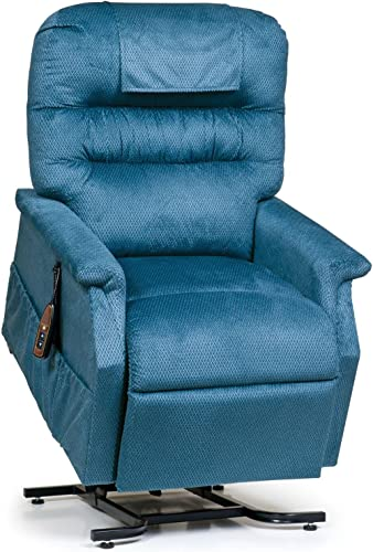 Golden Technologies Monarch PC-355M Medium Lift Chair 3-Position Recliner – PR355-MED Cornflower Blue Fabric – in-Home Delivery and Setup