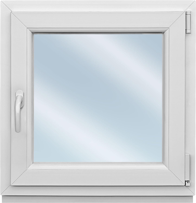 als Ma/ßanfertigung Fenster weiss 2-fach verglast 51x76 kipp- und drehbar BxH DK-Rechts