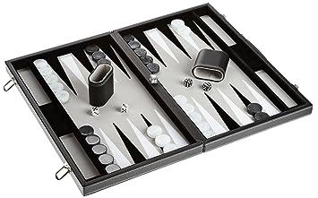 Philos 1721 Backgammon Filzinlet Grau Weiß Schwarz Groß Koffer
