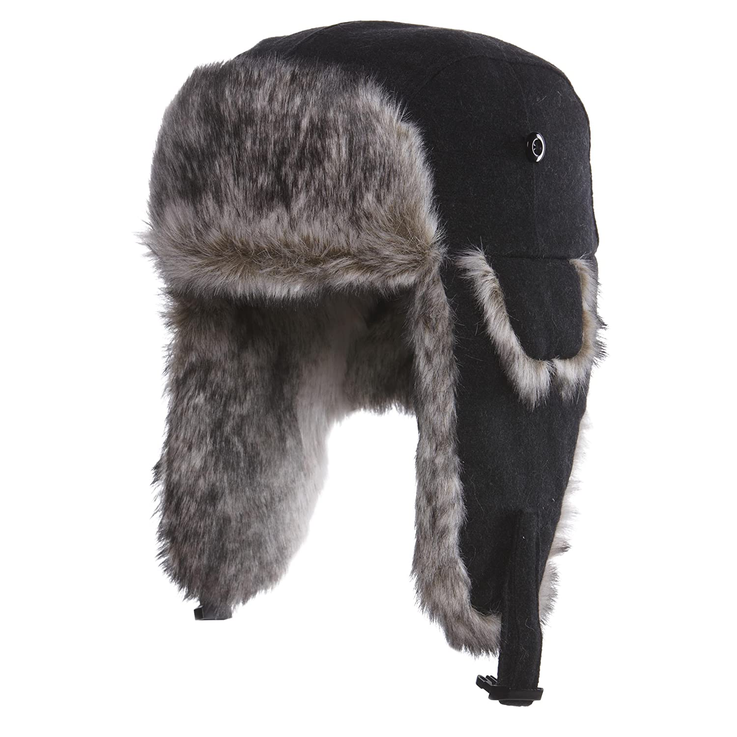 Amazon.com  Chaos Men s Dylon Wool Blend Trapper Hat  Sports   Outdoors 9266a2f488f