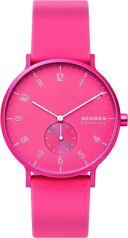 Skagen Reloj Analógico para Unisex Adultos de Cuarzo con Correa en Silicona SKW6559