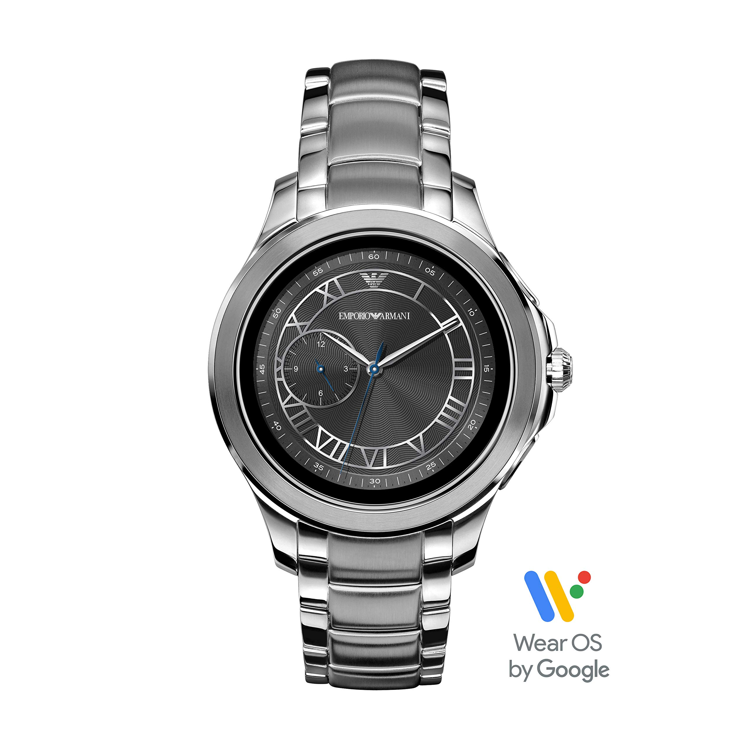 Emporio Armani Men's Stainless Steel Touchscreen Smartwatch, Color: Silver-Toned (Model: ART5010)