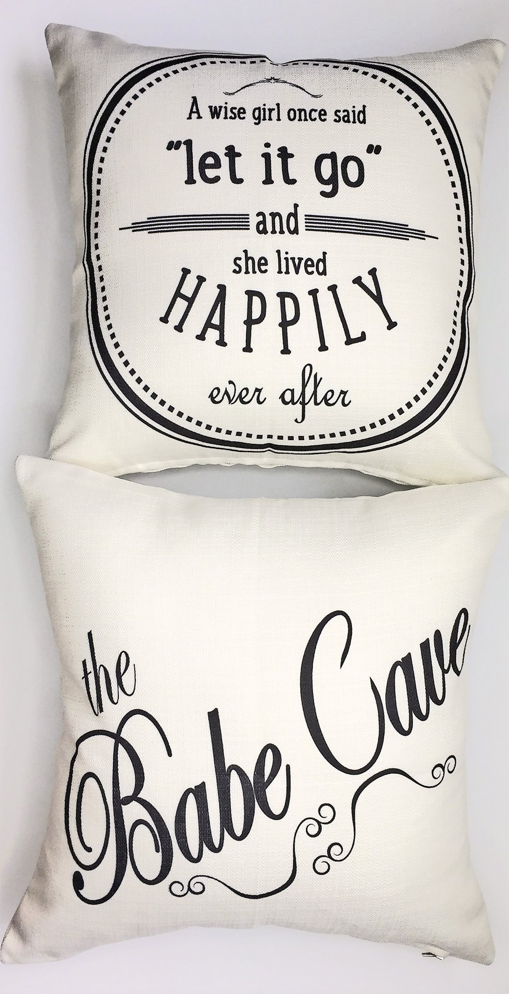 Babe cave-let it go funny ivory Throw Pillow-dorm pillow,teen girl pillow,teen girls room,girls sign,pillow for girls-dorm pillow,college girl gift-dorm decor,motivational pillow