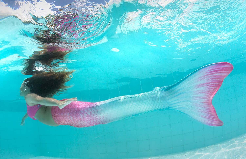 Fin Fun Code a Forma di Sirena per Nuoto con Monopinna - Taglie per Bambini e Adulti - Edizione Limitata Bahama