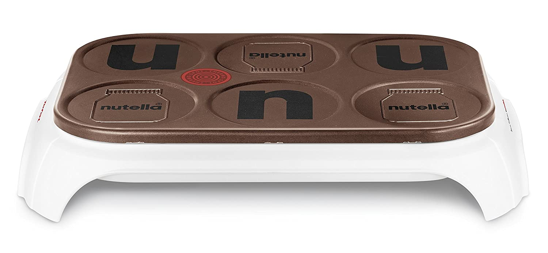 Tefal Crep Party 6 Nutella Macchina per fare le crepe, potenza: 1000 W, colore: Bianco potenza: 1000W PY559112