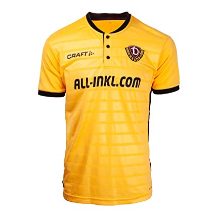 SG Dynamo Dresden Craft Camiseta, Jersey Home 2018/19, Amarillo ...
