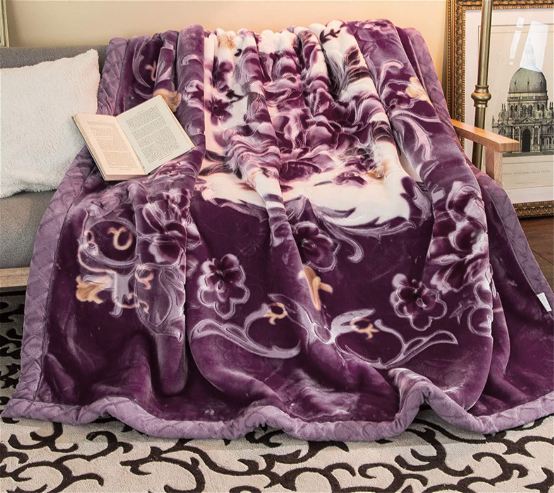 厚いコーラルブランケットレッドは、ダブル200* 230cm* B07JVMNHF3 180* 230cm 220cm旅行ホームベッドウォームラムフルフダブル秋冬ふわふわの高級ソファ大きなソフト Purple B07JVMNHF3, BEEF:95bbdaa7 --- ijpba.info