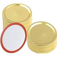 XIDAJIE - 30 tapas de enlatado de boca ancha, tapas para tarros de latas, tapas de tipo dividido, a prueba de fugas y…