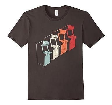Mens Retro Distressed 80s Arcade Cabinets T Shirt 2XL Asphalt