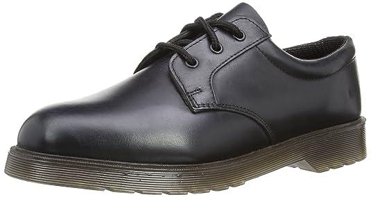 Grafters - Zapatos de cordones para mujer, color negro, talla 41.5