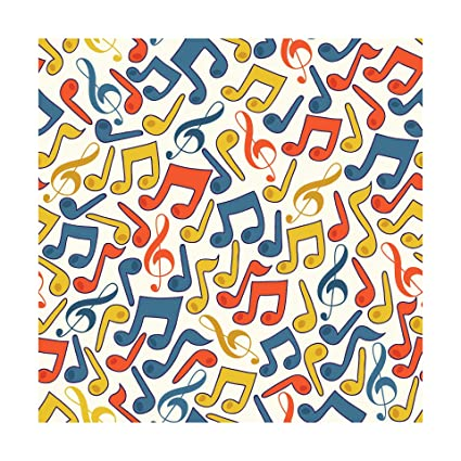100yellow Music Symbol Pattern Self Adhesive Peel Stick Waterproof