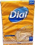 Dial Antibacterial Deodorant Gold Bar Soap, 4 Ounce (Pack of 20)