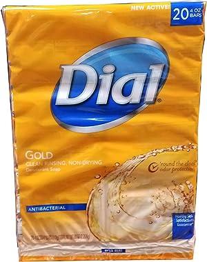 Dial Antibacterial Deodorant Gold Bar Soap, 4 Ounce (Pack of 20) Net Wt 5.LBS