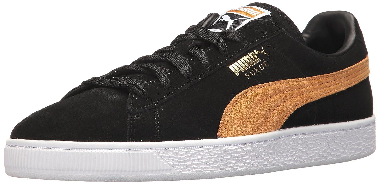 Puma Unisex-Erwachsene Suede Classic + 1 Sneaker, Black-Black, Schuhgrouml;szlig;e  40.5 EU|Nero (Puma Black-inca Gold)