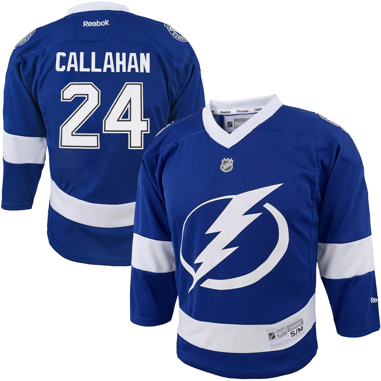 878cec60 Amazon.com: Ryan Callahan Tampa Bay Lightning #24 Kids 4-7 Home Blue ...