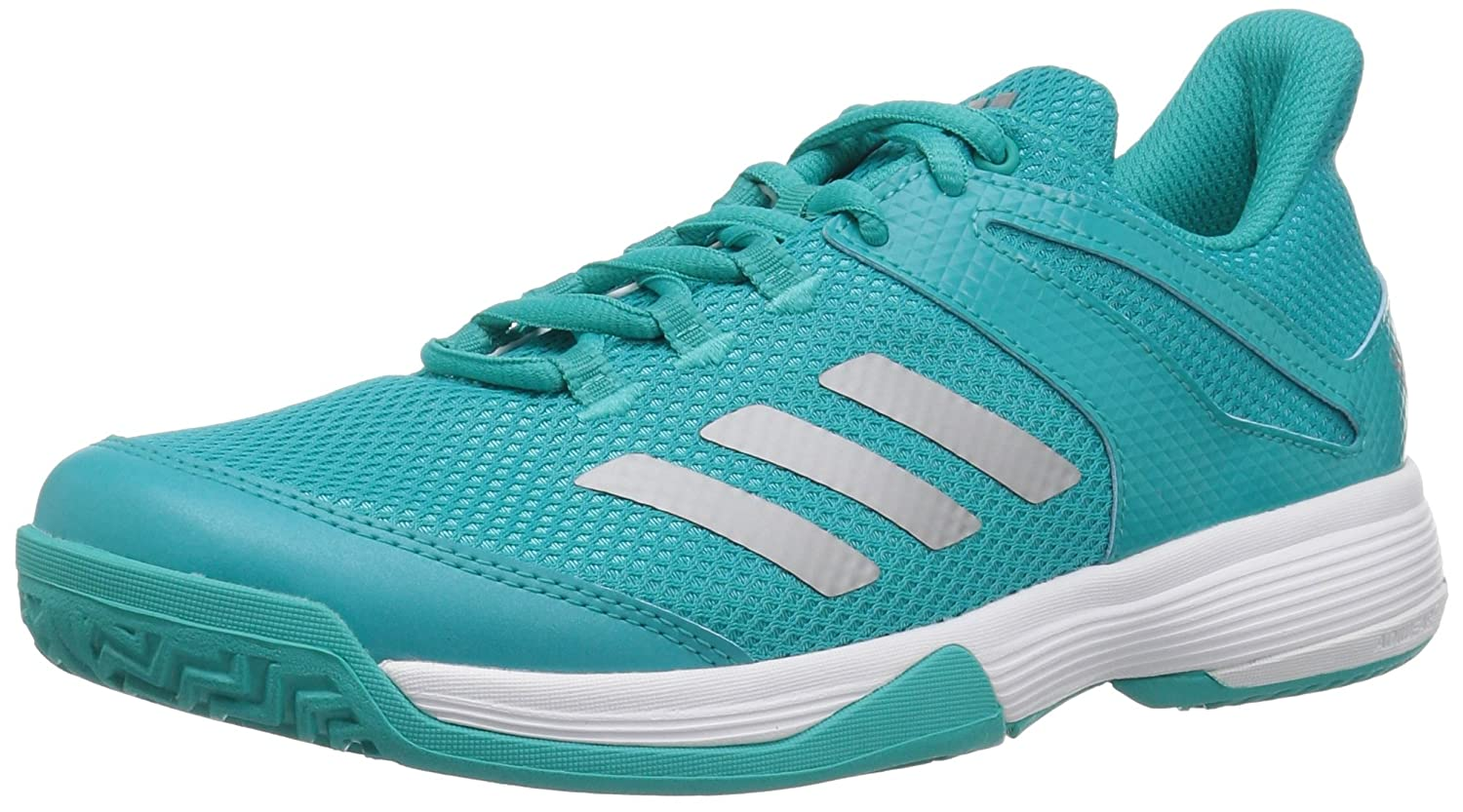 adidas ユニセックスキッズ Adizero Club K B077Y1T1BM 13.5K M US Little Kid|Hi-res Aqua/Matte Silver/White Hires Aqua/Matte Silver/White 13.5K M US Little Kid