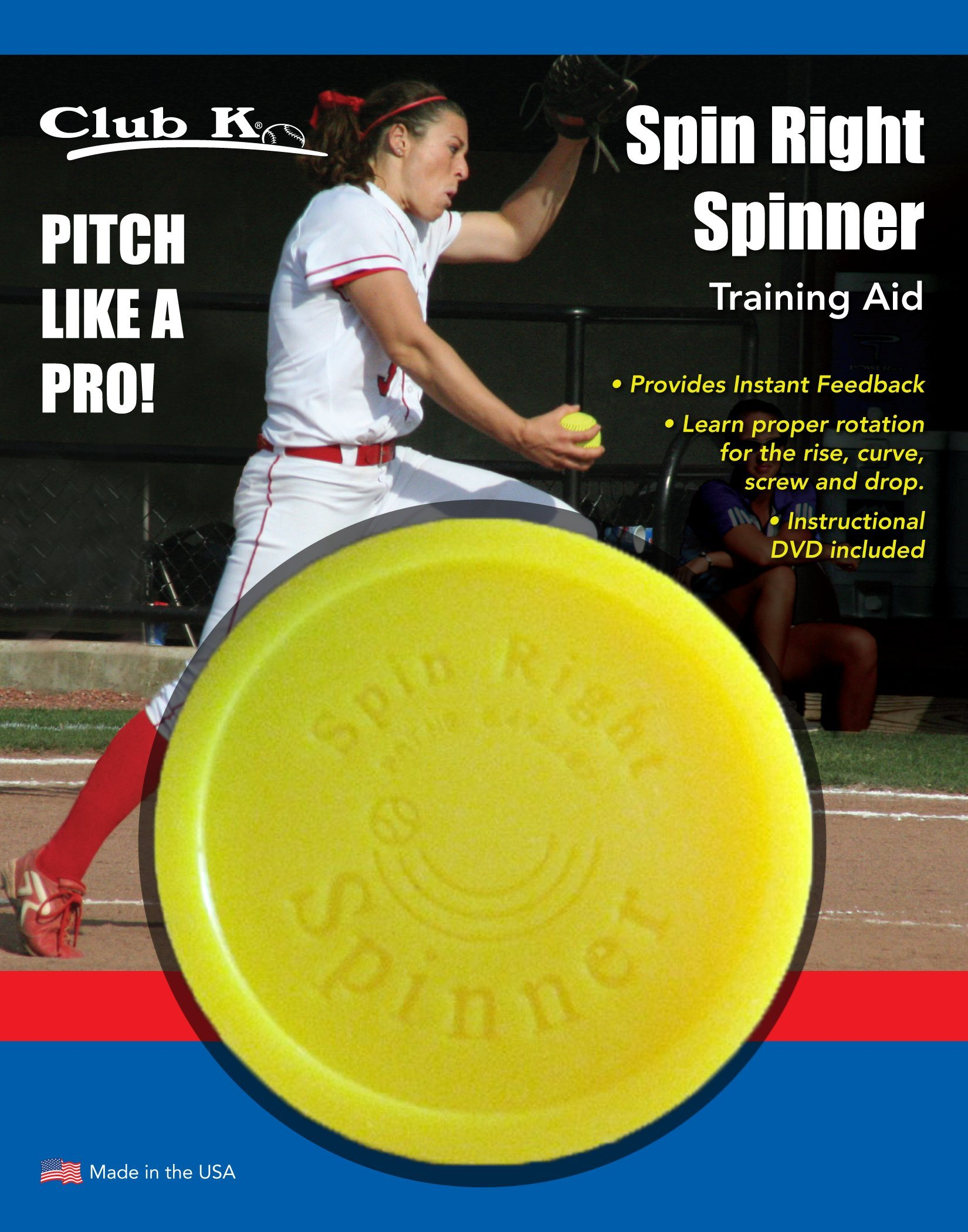 SPIN RIGHT SPINNER & Ernie Parker's WRIST SNAPPER Fastpitch Softball Pitching Training Aids Equipment by Buckeye Nation Sales (Image #2)