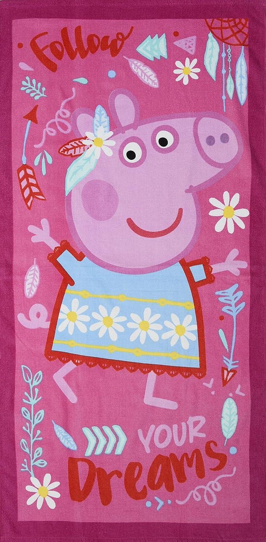 Offically Licensed Peppa Pig - Toallas de Baño para Playa (Color Azul o Rosa), Diseño a Elegir: Amazon.es: Hogar