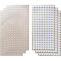 Arlent Transparant 1008 stks (504 pairs) 1 cm Diameter Sticky Back Dunne Clear Dots met Zelfklevende Haak & Loop Munten…