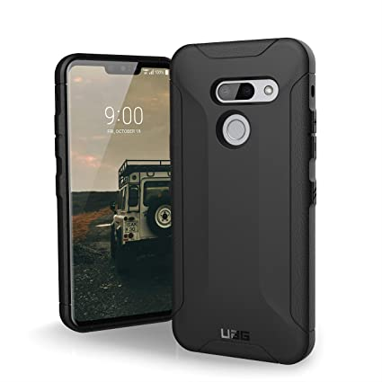 cheaper f4c0d 7dbcc URBAN ARMOR GEAR UAG LG G8 ThinQ [6.1-inch Screen] Scout Feather-Light  Rugged [Black] Military Drop Tested Phone Case