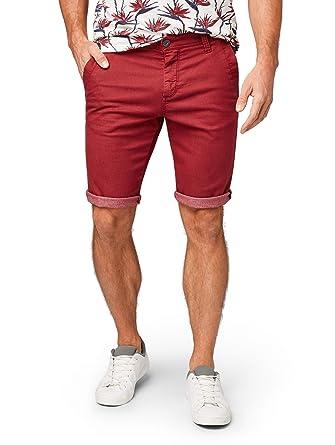 b790ae133c13 TOM TAILOR für Männer Hosen   Chino Josh Regular Slim Bermuda Shorts Dark  Claret red,