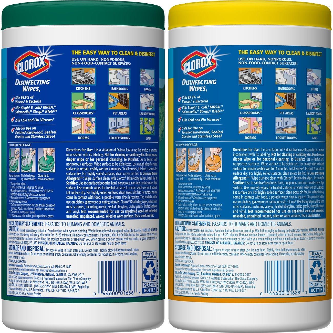 Amazon.com: Clorox Disinfecting Antibacterial Wipes Value Pack ...