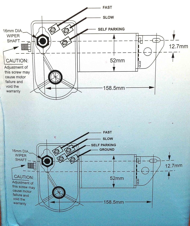 Marine Boat Heavy Duty Wiper Blade Motor 80 Deg Adjustable 2.5