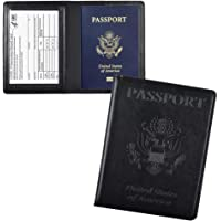 Doulove Passport and Vaccine Card Holder Combo, Passport Holder with Vaccine Card Slot, PU Leather Passport Cover Case…