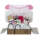 Relaxing Spa Bath & Body Birthday Gift Basket Box with Candle & Treats for Women, Mom, Wife Sister or Friend