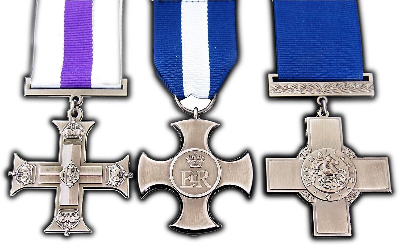 Beautiful George Cruz medalla Militar Set De 3 Para Gallantry y heroísmo réplica: Amazon.es: Deportes y aire libre