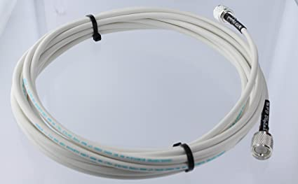 30 Feet MPD Digital RG8X White Marine Radio VHF AIS Antenna Jumper Cable Cable with UHF PL259 RF Connectors Made in The U.S.A