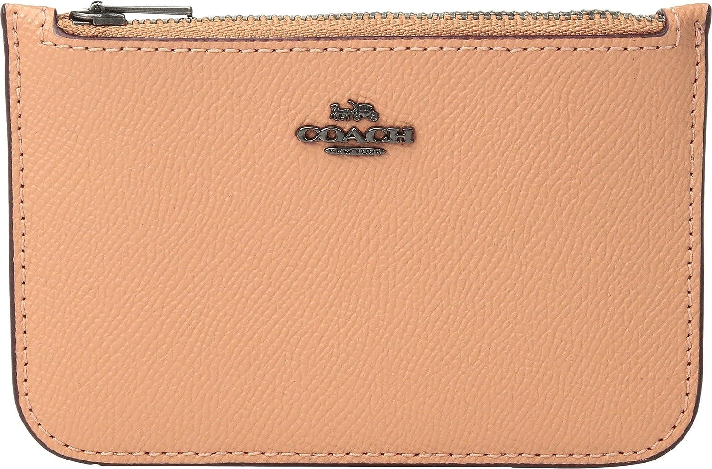 a6b8fc87 COACH Women's Zip Card Case in Crossgrain Leather