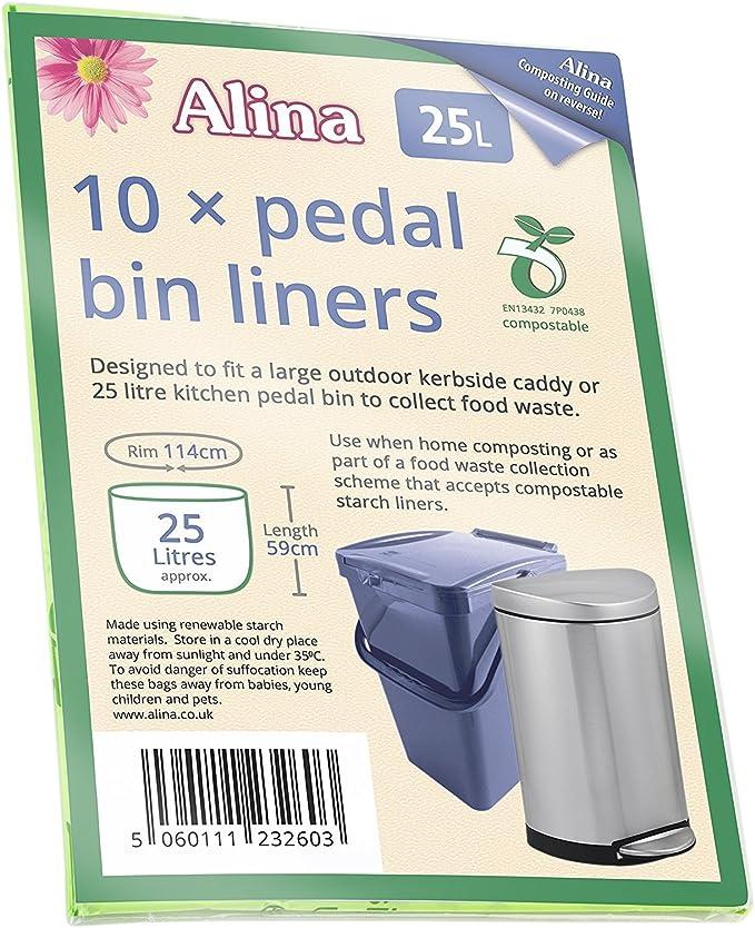 Bolsas de basura compostables Alina para alimentos y ...
