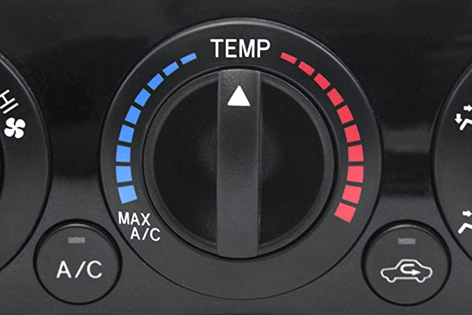 Orange Indicator Control Knob Fan Heater 2005-2011 Compatible with Toyota Tacoma Temperature HVAC Black