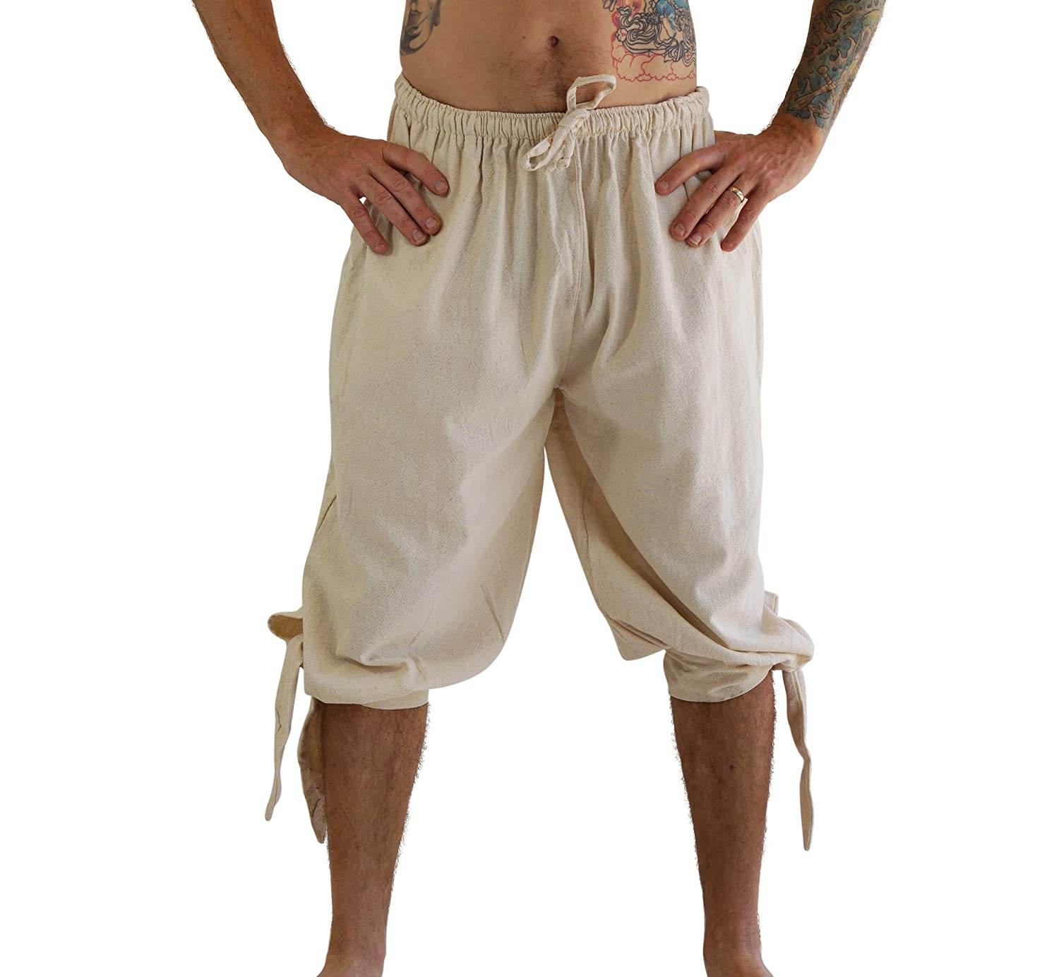 'Buccaneer' Pirate Costume Pants, Renaissance Clothing - Natural/Off White