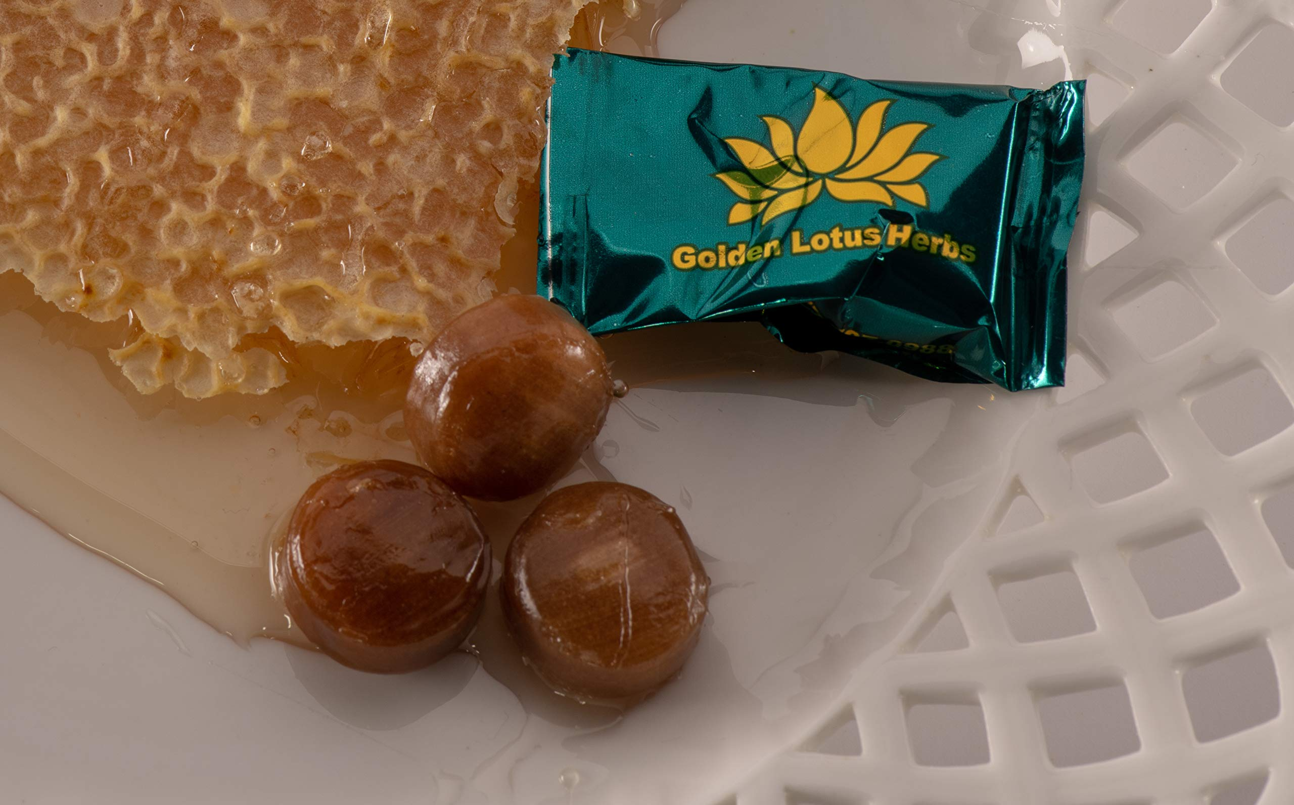 Golden Lotus Herbs Organic Lung and Throat Herbal Lozenges (6 Pack/120 Cough Drops)