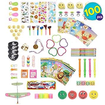 THE TWIDDLERS 100 Pcs Juguetes de Fiesta a Granel - Infantiles del Partido Favor Niñas Infantiles niños o para el Colegio - Rellenar Piñatas y Bolsas ...