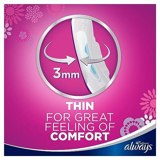 Always Platinum - Toallas sanitarias normales (tamaño 1), 4 x 24 almohadillas, caja de ahorro: Amazon.es: Salud y cuidado personal