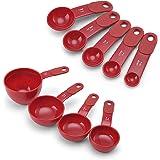 KitchenAid Juego de Tazas y Cucharas Medidoras, rojo