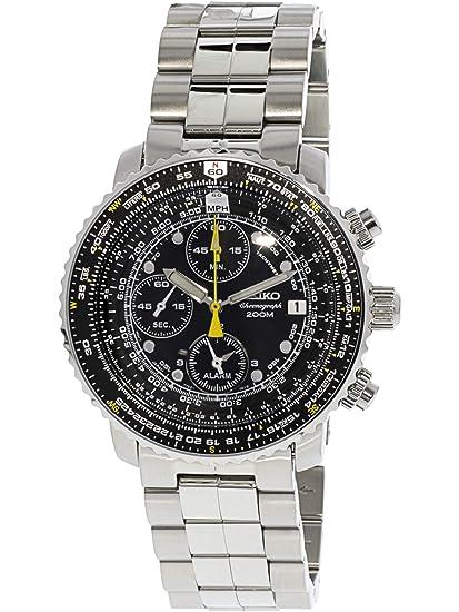 adce500fa7 Seiko Men 's sna411 vuelo alarma reloj cronógrafo: Seiko: Amazon.com ...