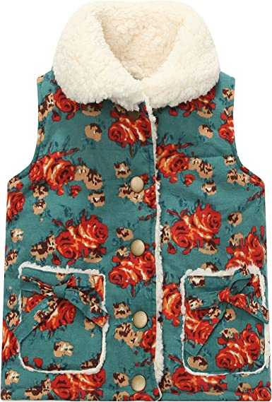 Richie House Girls Light Weight Padding Vest with Sherpa Fleece Lining RH1241