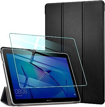 AROYI Funda para Huawei Mediapad T3 10 + Protector Pantalla, Carcasa Silicona TPU Smart Cover Case con Soporte Función para Huawei MediaPad T3 10 (9,6 Zoll): Amazon.es: Electrónica