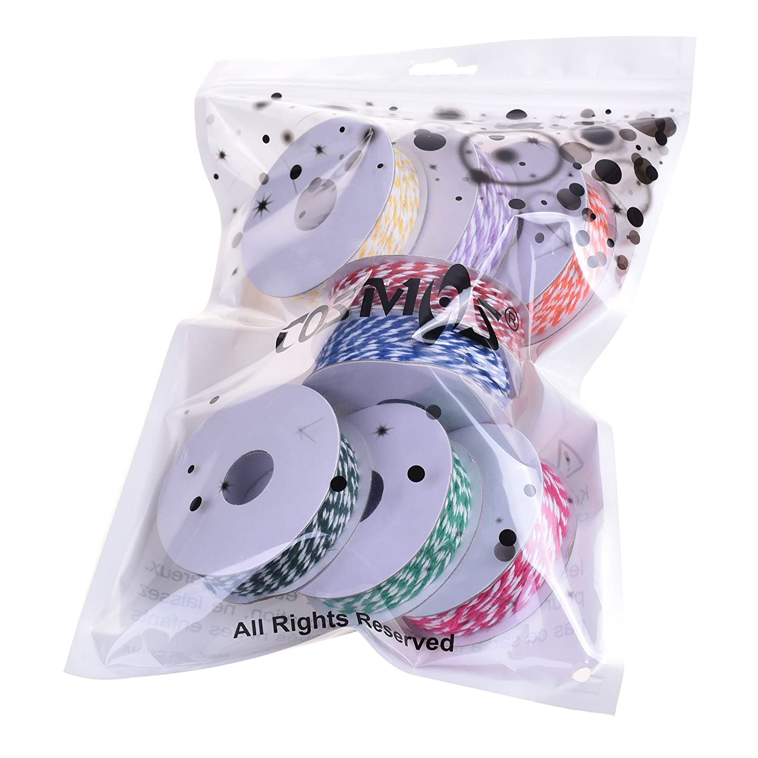 8 Pieces in Assorted Colors CM Cosmos 20 Yards Colorful Cotton Twine Cord for DIY Crafts Making Decoration