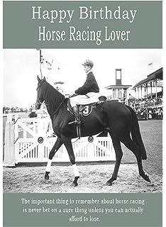 Horse Racing Happy Birthday Card